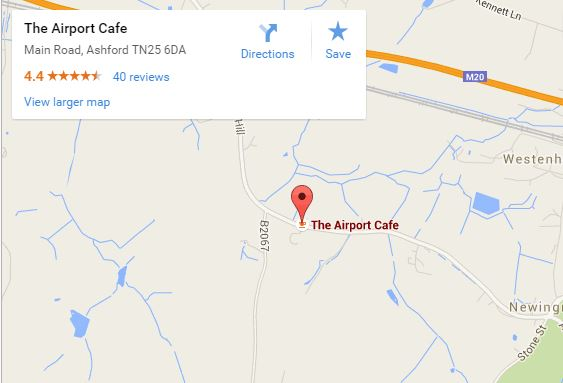 Airport Cafe map