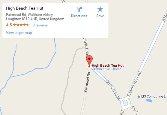 Berts tea hut map