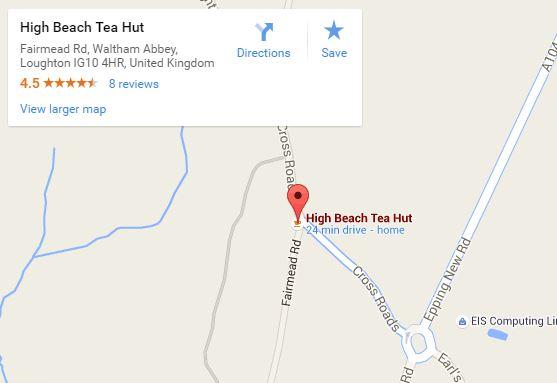 Berts tea hut map