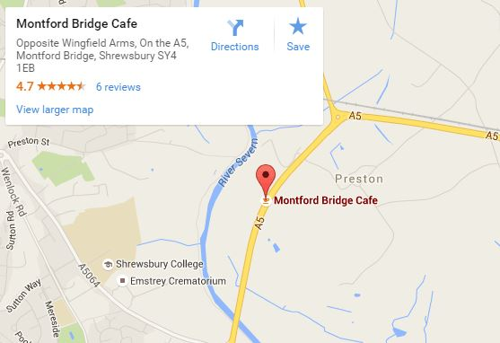 Montford Bridge Cafe map