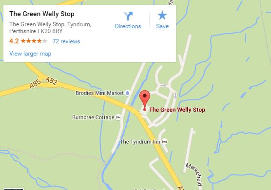 The Green Welly Stop Map