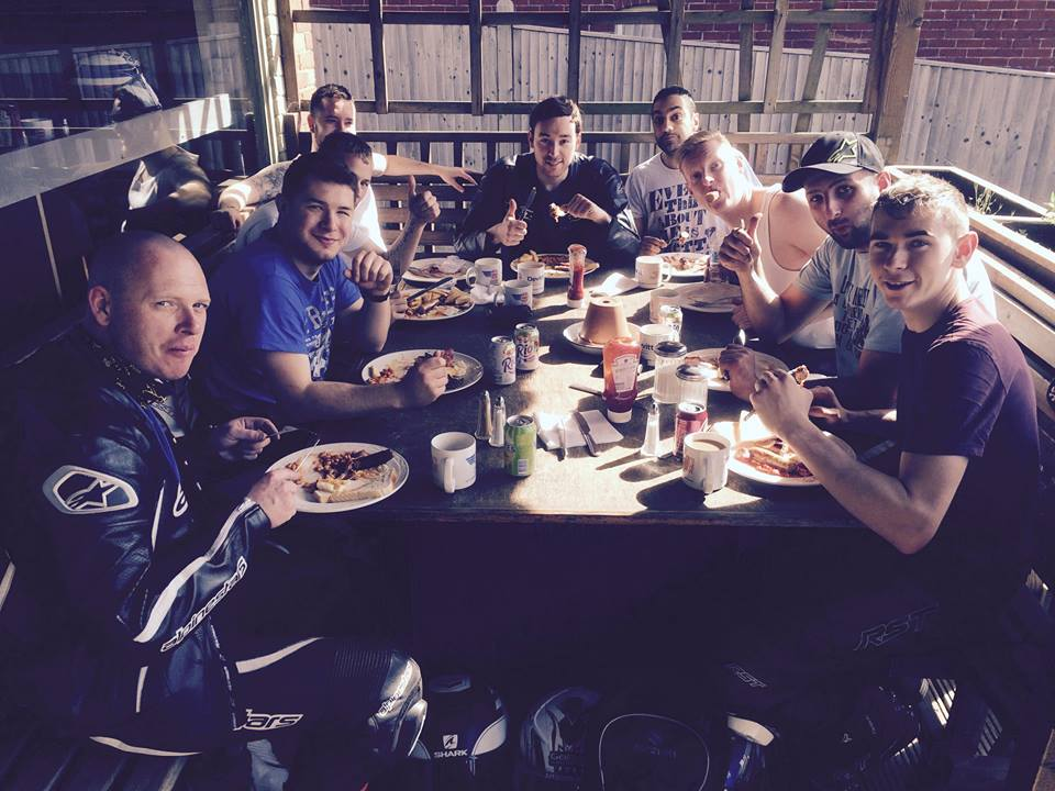 Bikers enjoying lunch at wessons cafe credit facebook