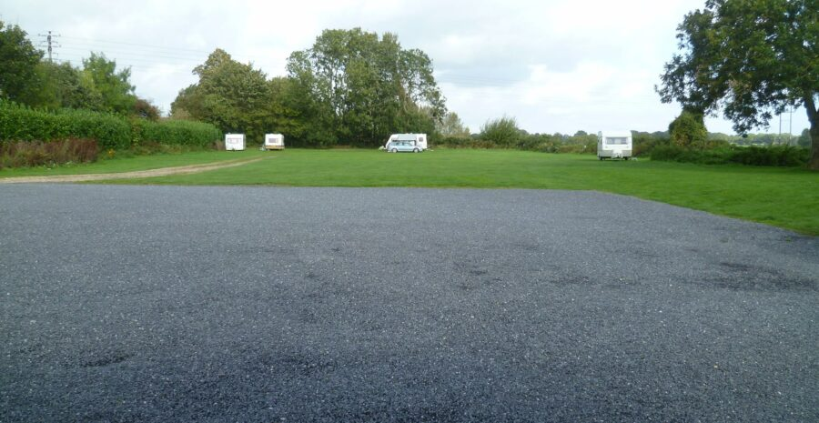 Bruce Arms car park and campsite credit fb