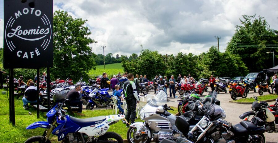 Loomies Moto Cafe busy car park credit official loomies FB