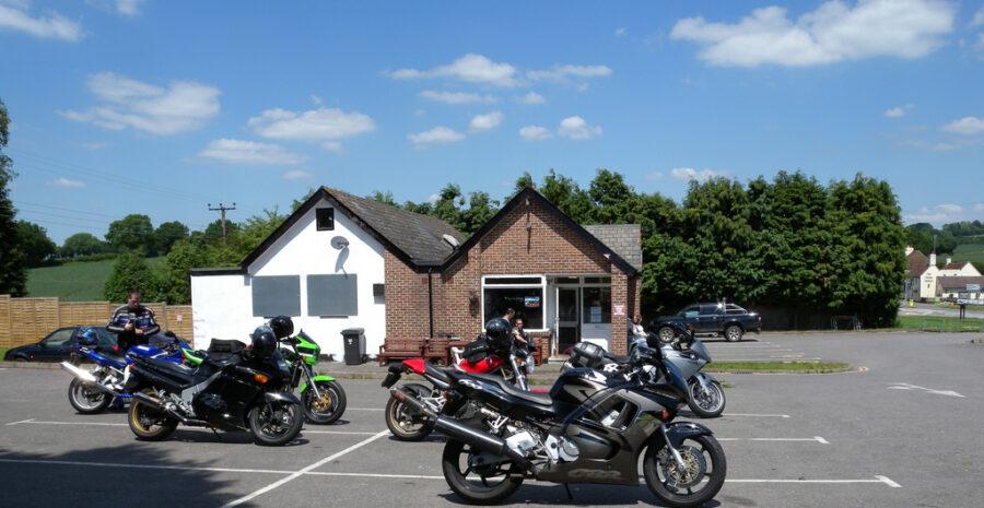 Loomies Moto Cafe outdoors credit Steve Parker Flickr
