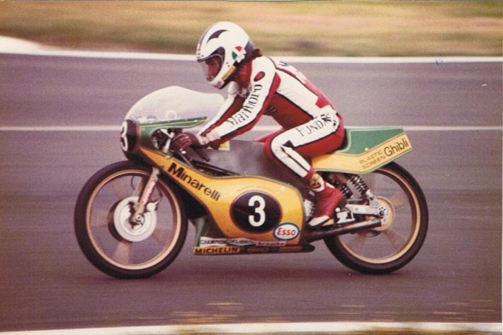 Nieto at Silverstone. Credit Phil Wain's Family Archive.