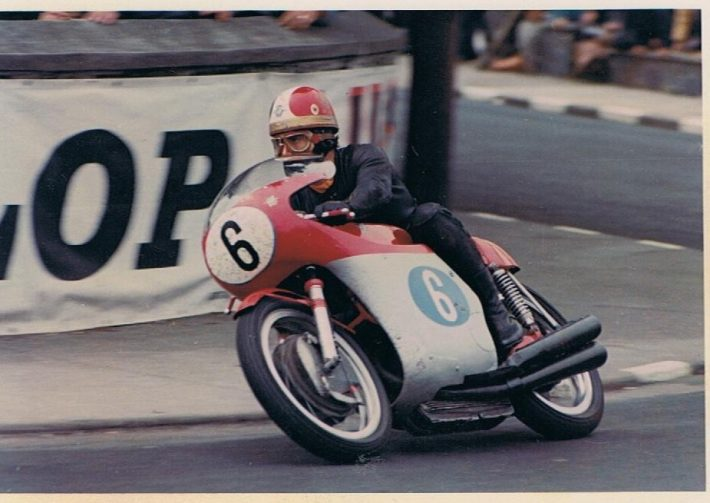 Agostini at the Isle of Man TT. Credit Phil Wain's Family Archive.