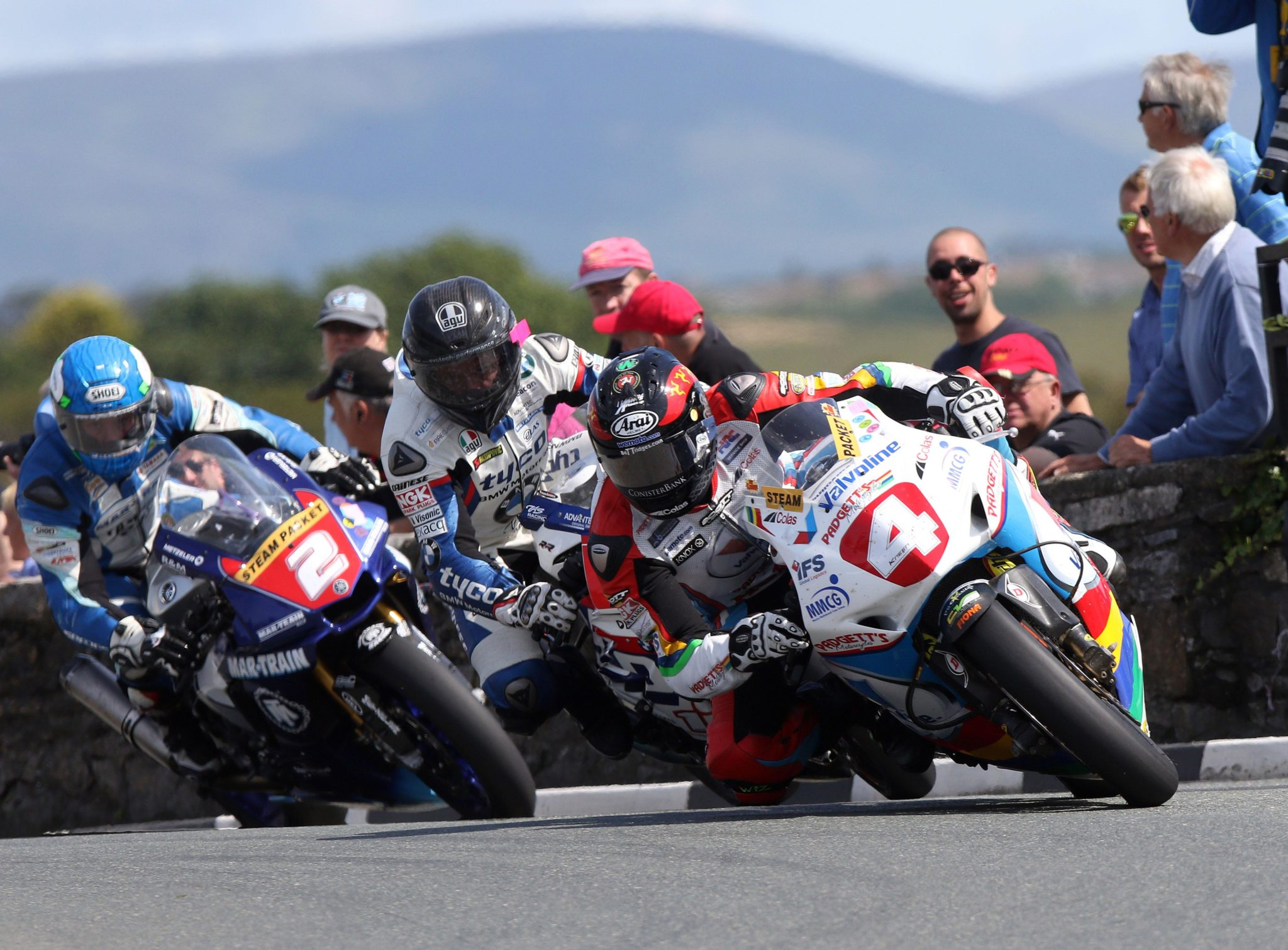 Dan Kneen, Guy Martin and Dean Harrison