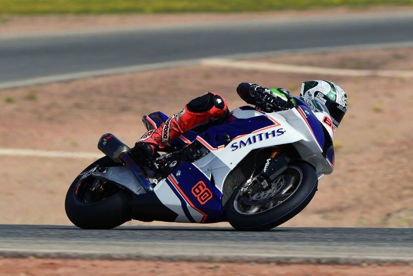Peter Hickman testing at Cartagena 2017 image credit @peterhickman60