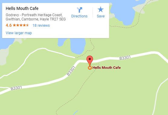 Hells Mouth Cafe map