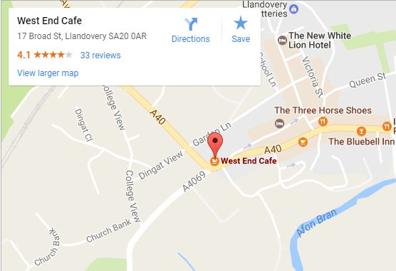 West End Cafe map