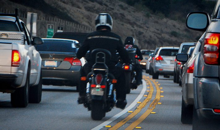 Lane splitting image credit fourbyfourblazer on flickr