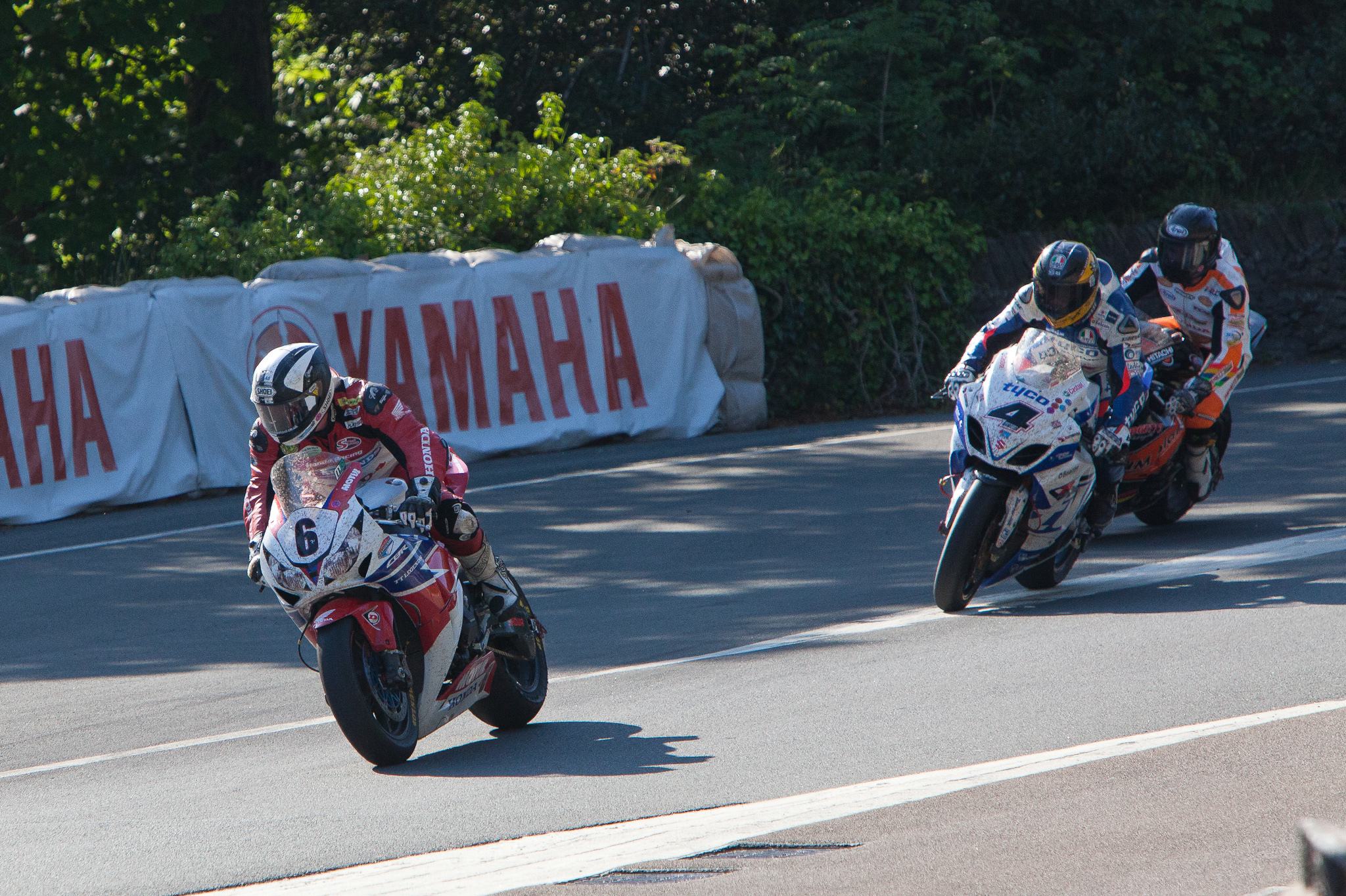 Michael Dunlop, Guy Martin and Bruce Anstey at Governor's Bridge TT 2013 image credit Phil Long on flickr