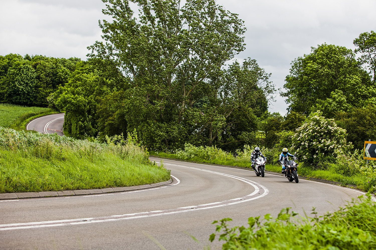 Motorcyclists riding in Lincolinshire