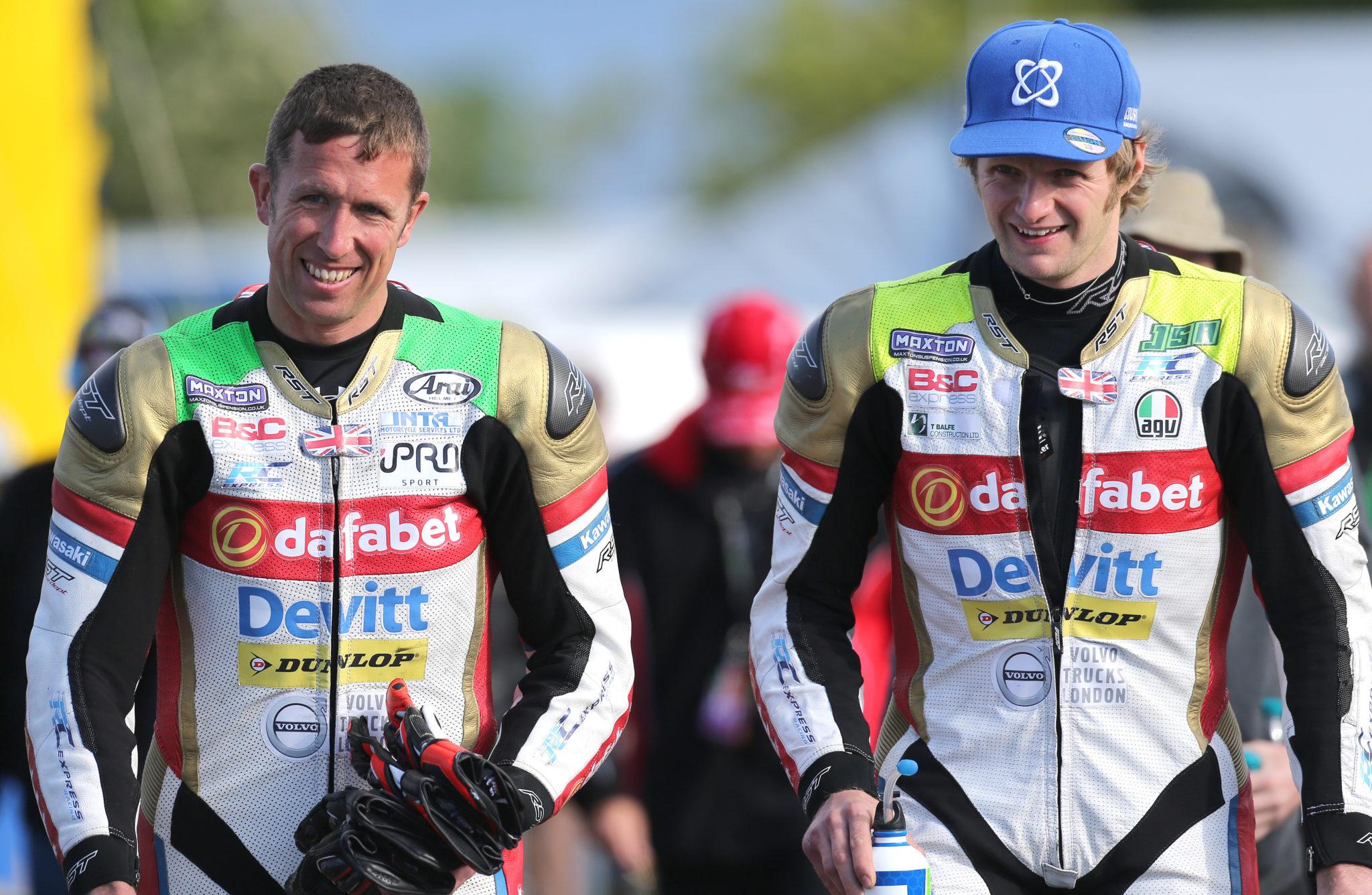 Steve Mercer and Ivan Lintin iomtt 2017 image credit Dafabet Devitt Racing