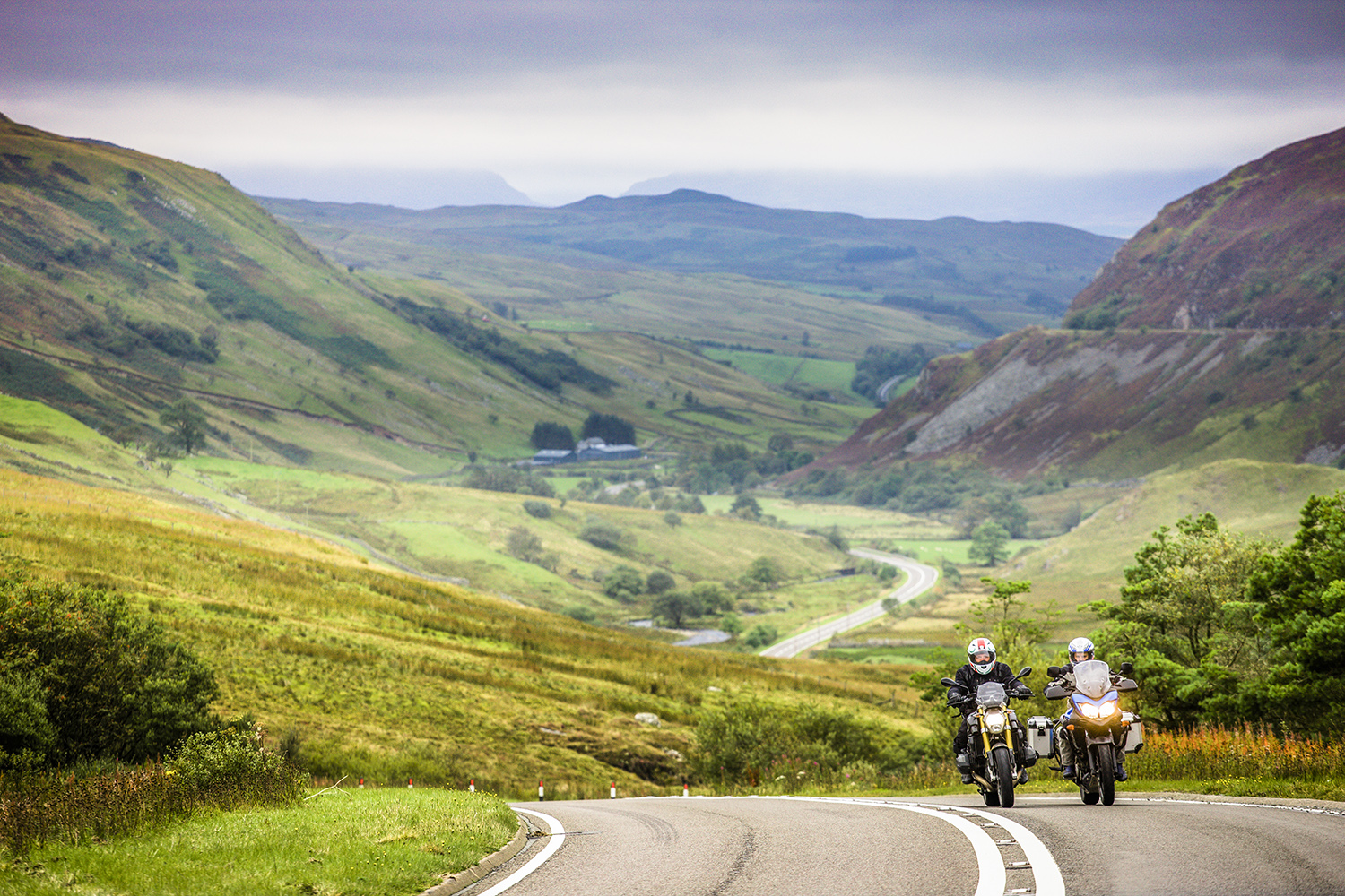 Motorcycle riding in North Wales