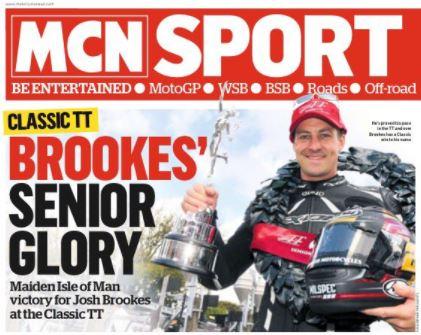 Josh Brooks Classic TT 2017 victory image credit @MCNnews Twitter