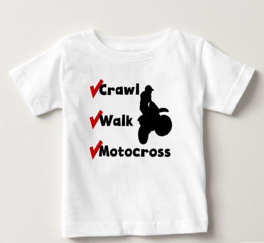 baby motorcross tshirt
