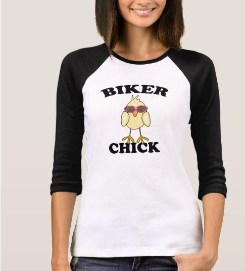 biker chick tee