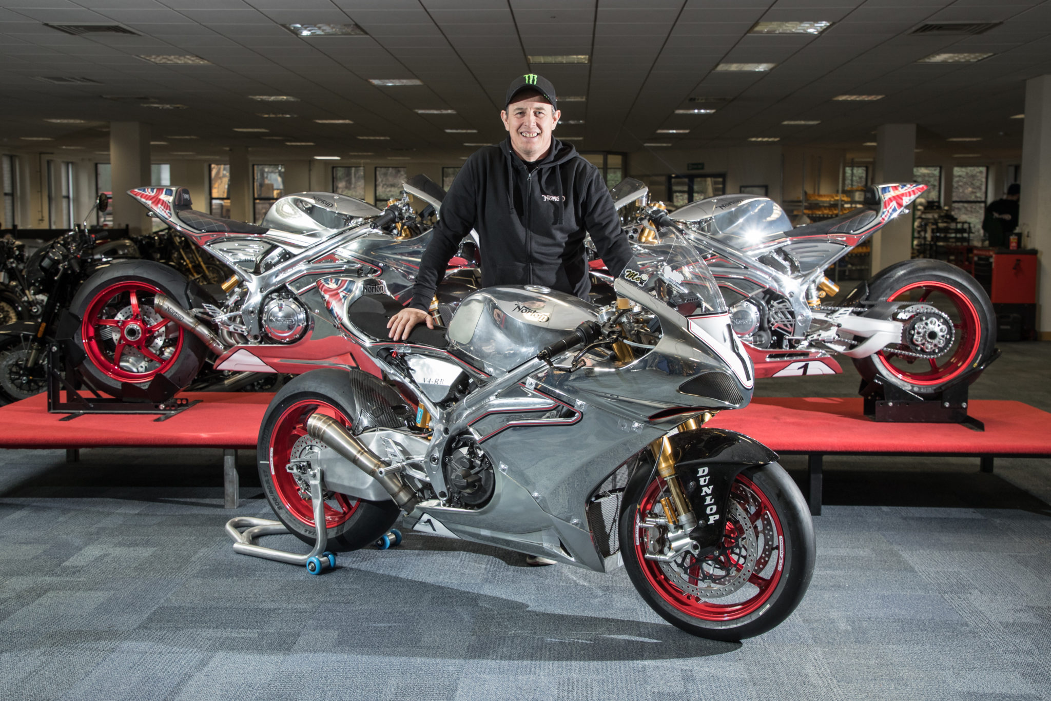 John McGuinness after signing for Norton credit www.iomtt.com