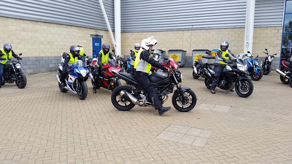 Getting ready for a test ride at MCN Festival 2017