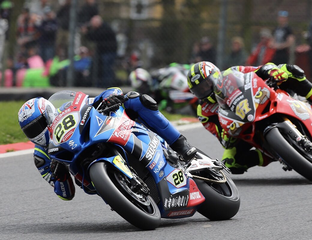 Bradley Ray in action at Brands Hatch credit @_HawkRacing Twitter account