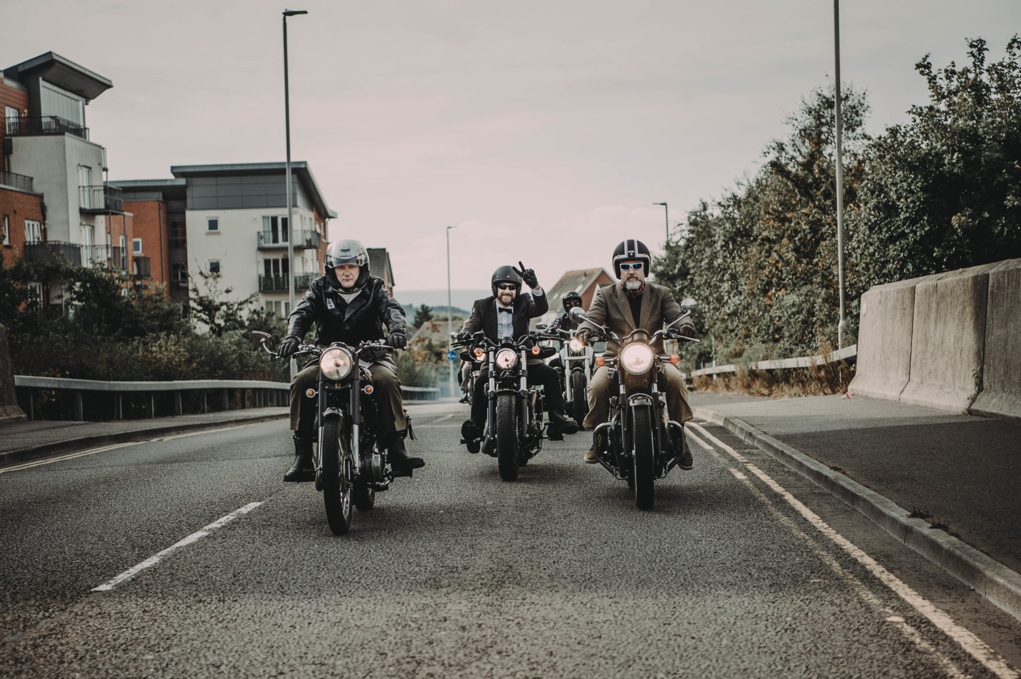 Bikers heading for a ride out