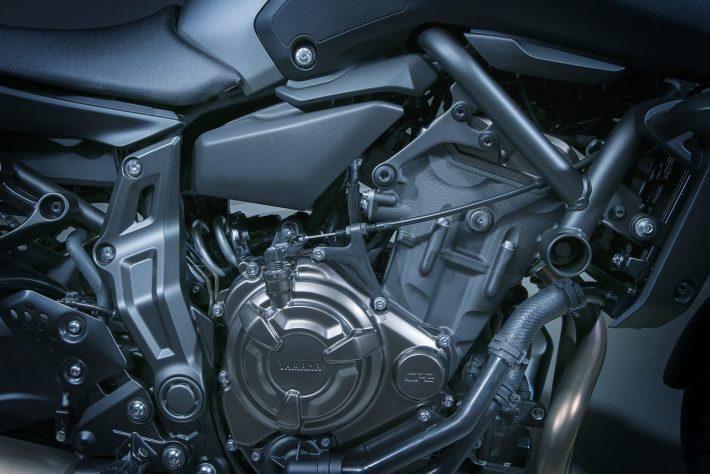 Yamaha MT-07 Engine credit Yamaha press