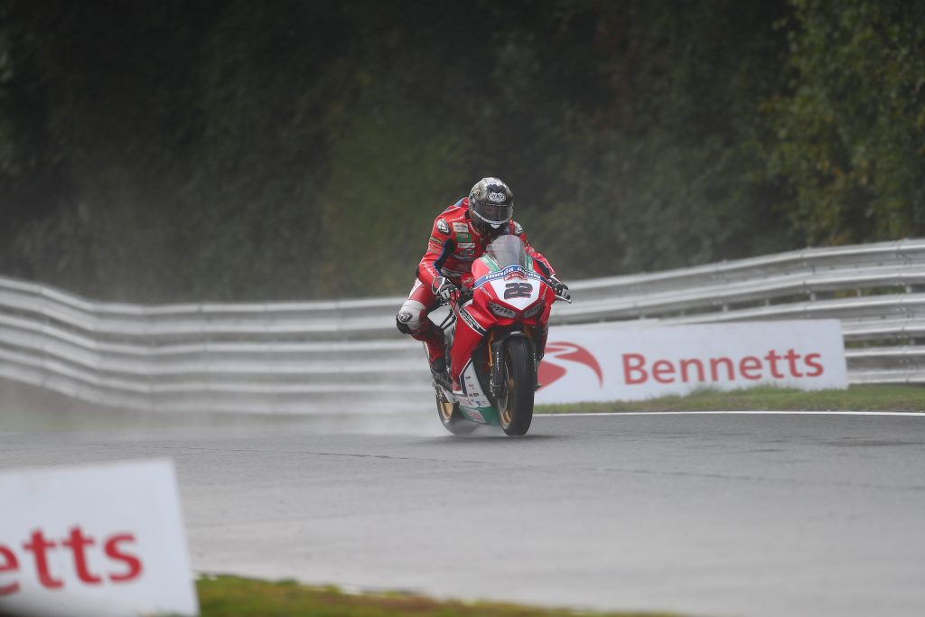 Jason O'Halloran racing in the rain credit Double Red