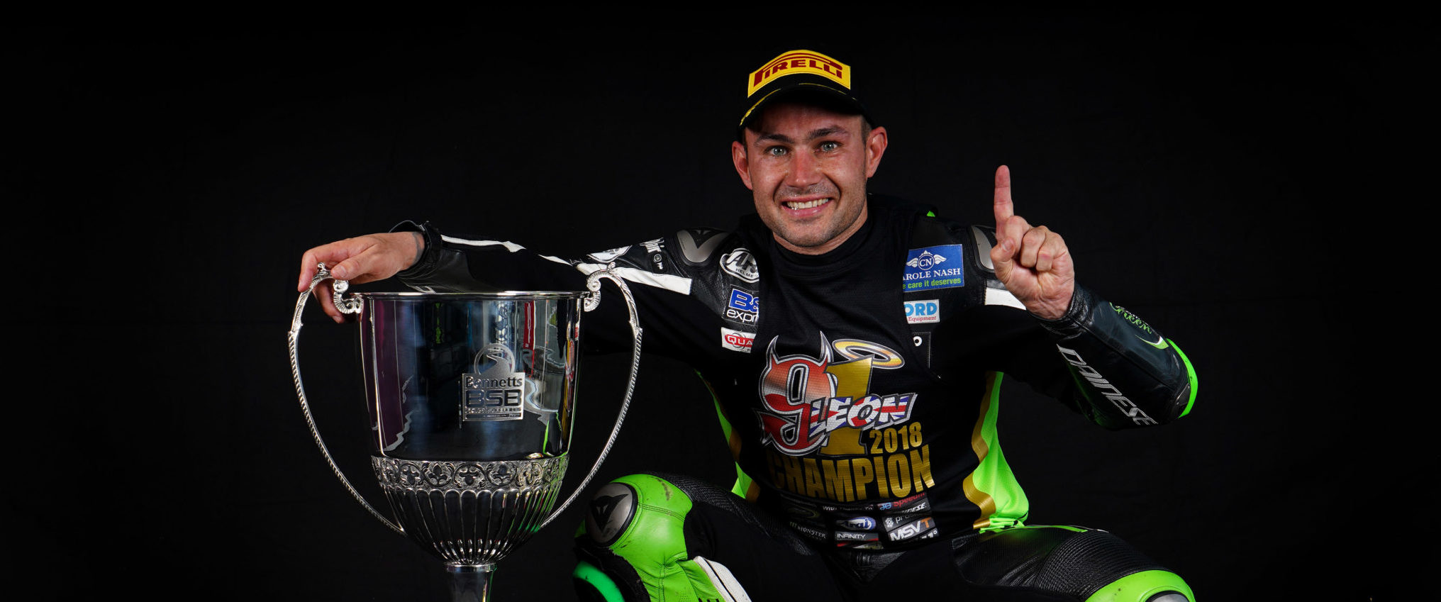 Haslam with his well-deserved BSB trophy credit Tim Keeton (Impact Images Photography)