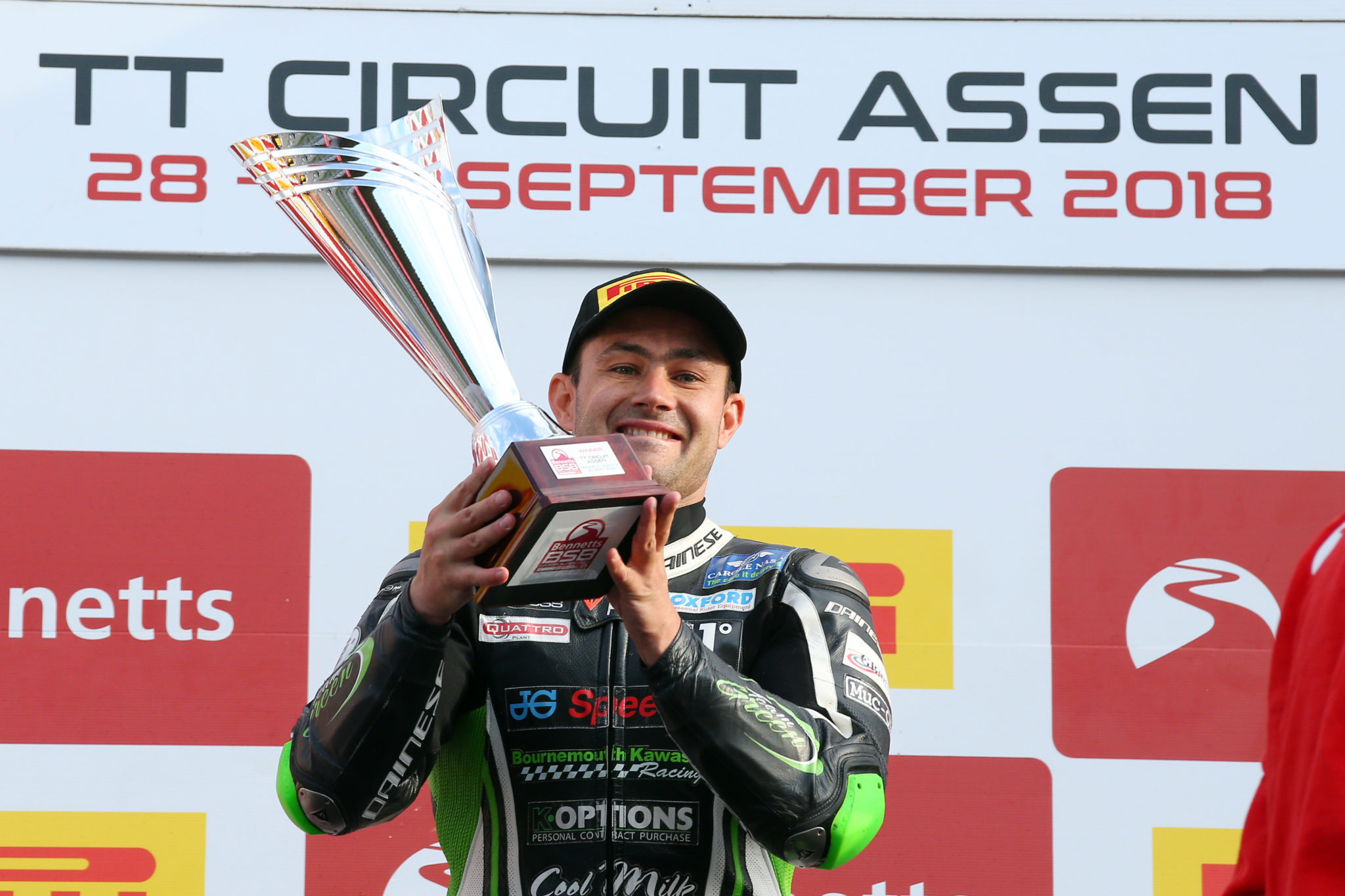 Leon Haslam after race win credit Tim Keeton (Impact Images Photography)