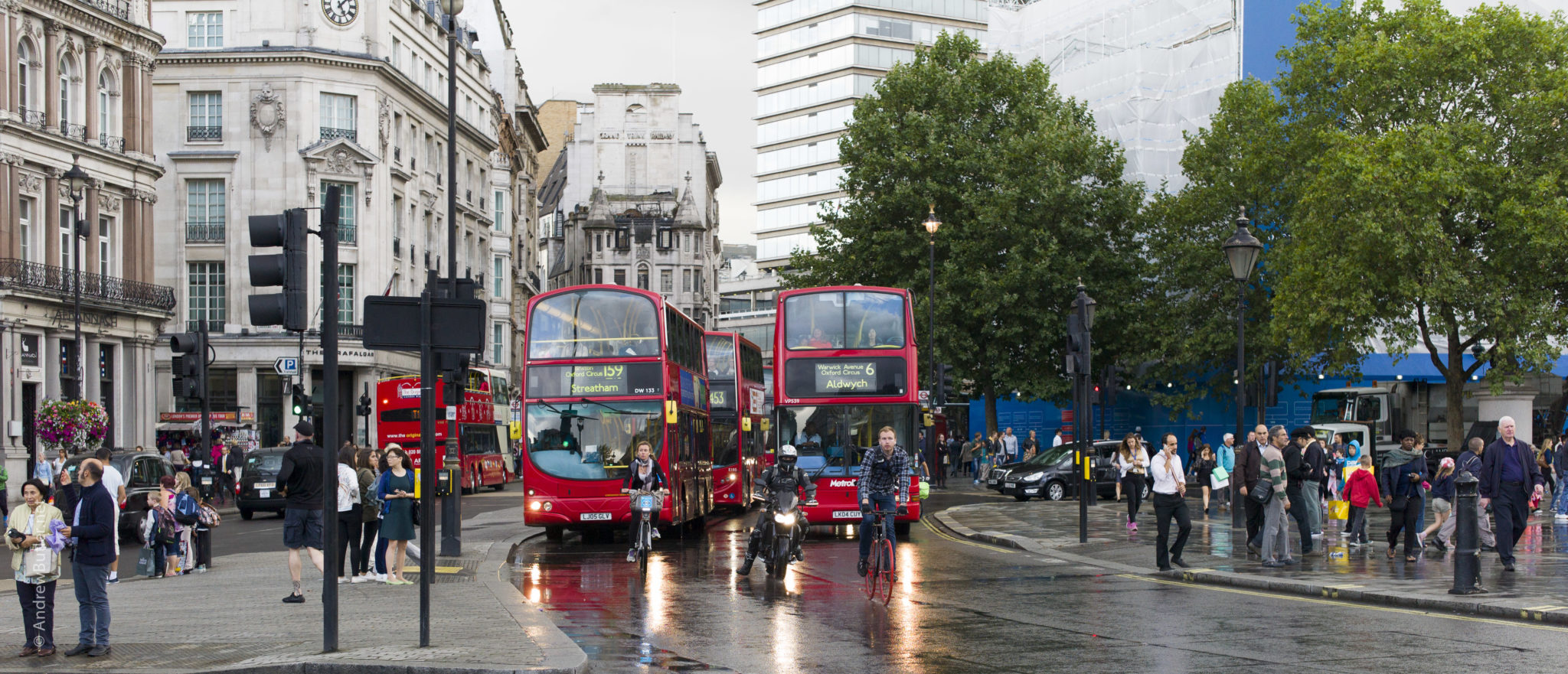 London bus and motorbike