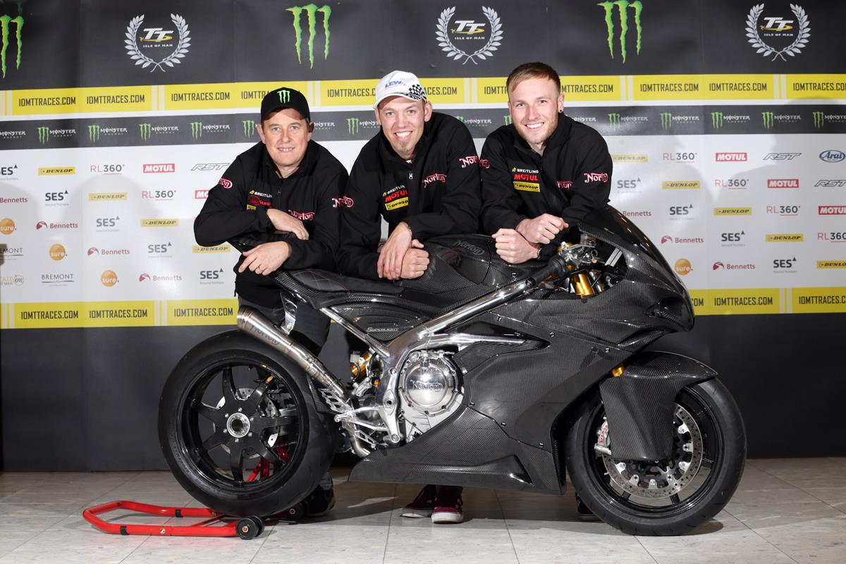The Norton team for the 2019 Lightweight TT race