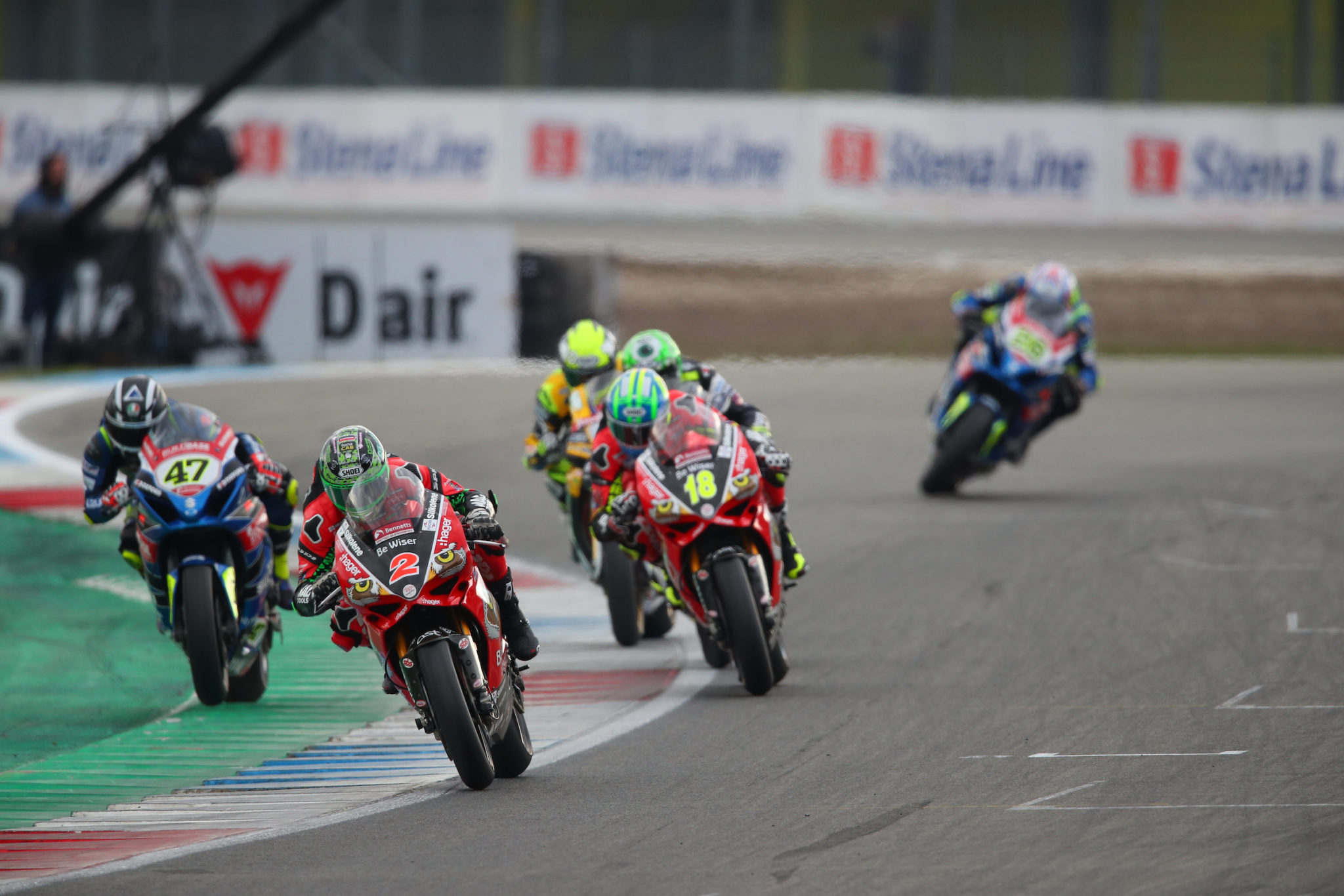 Irwin leading the way in a BSB 2018 race