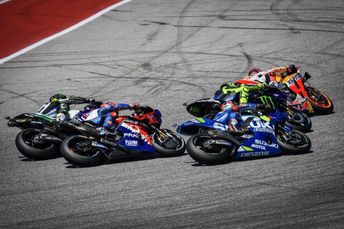 Marc Marquez being chased in Texas