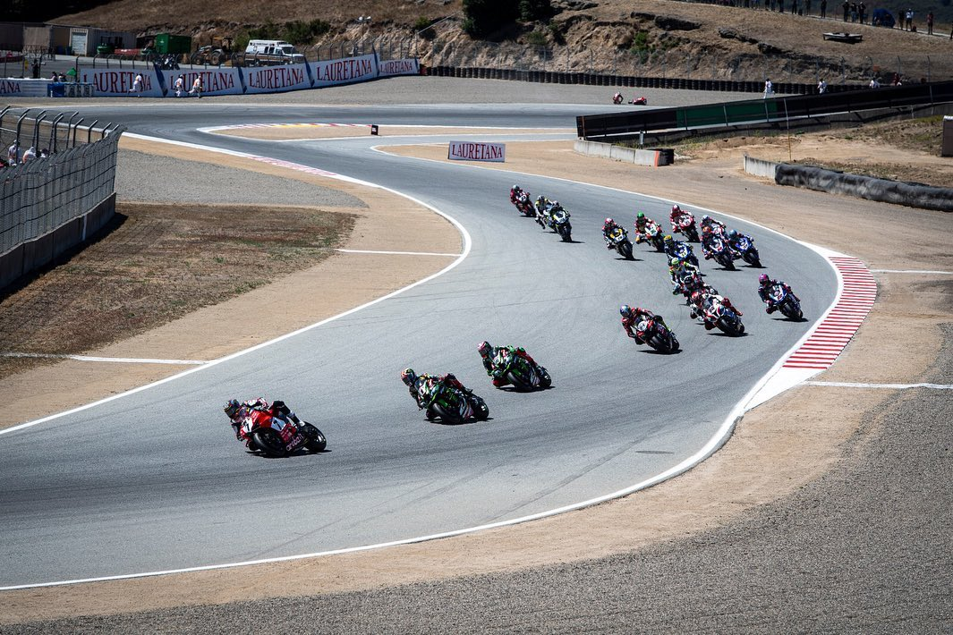 Laguna Seca action shot credit Chaz Davies Facebook