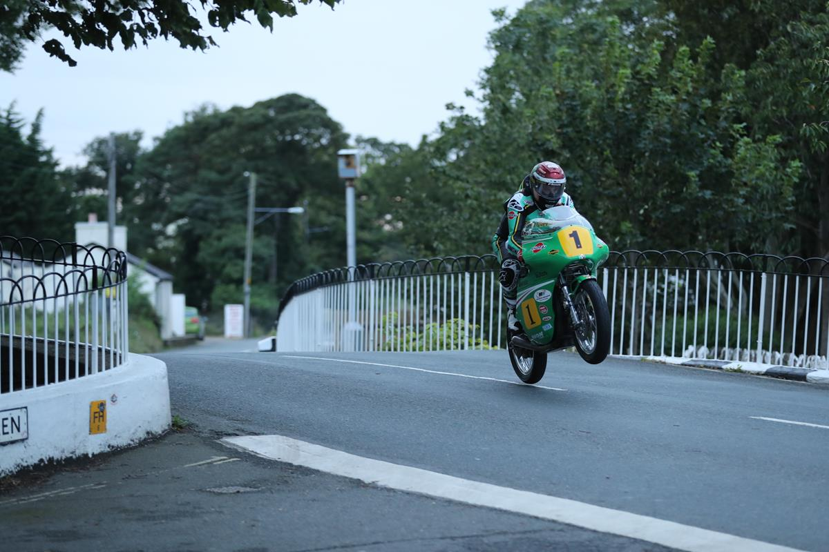 John McGuinness racing at the Classic TT