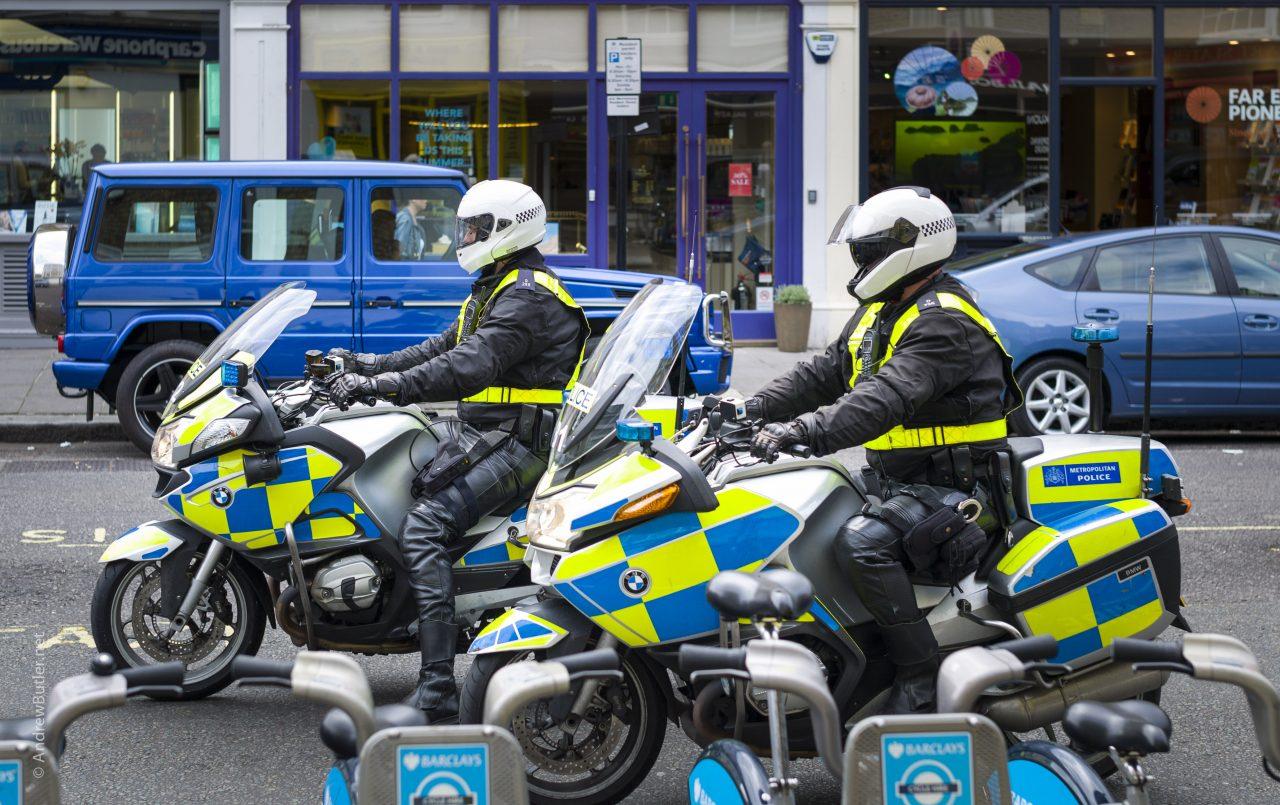 police motorbikes in London