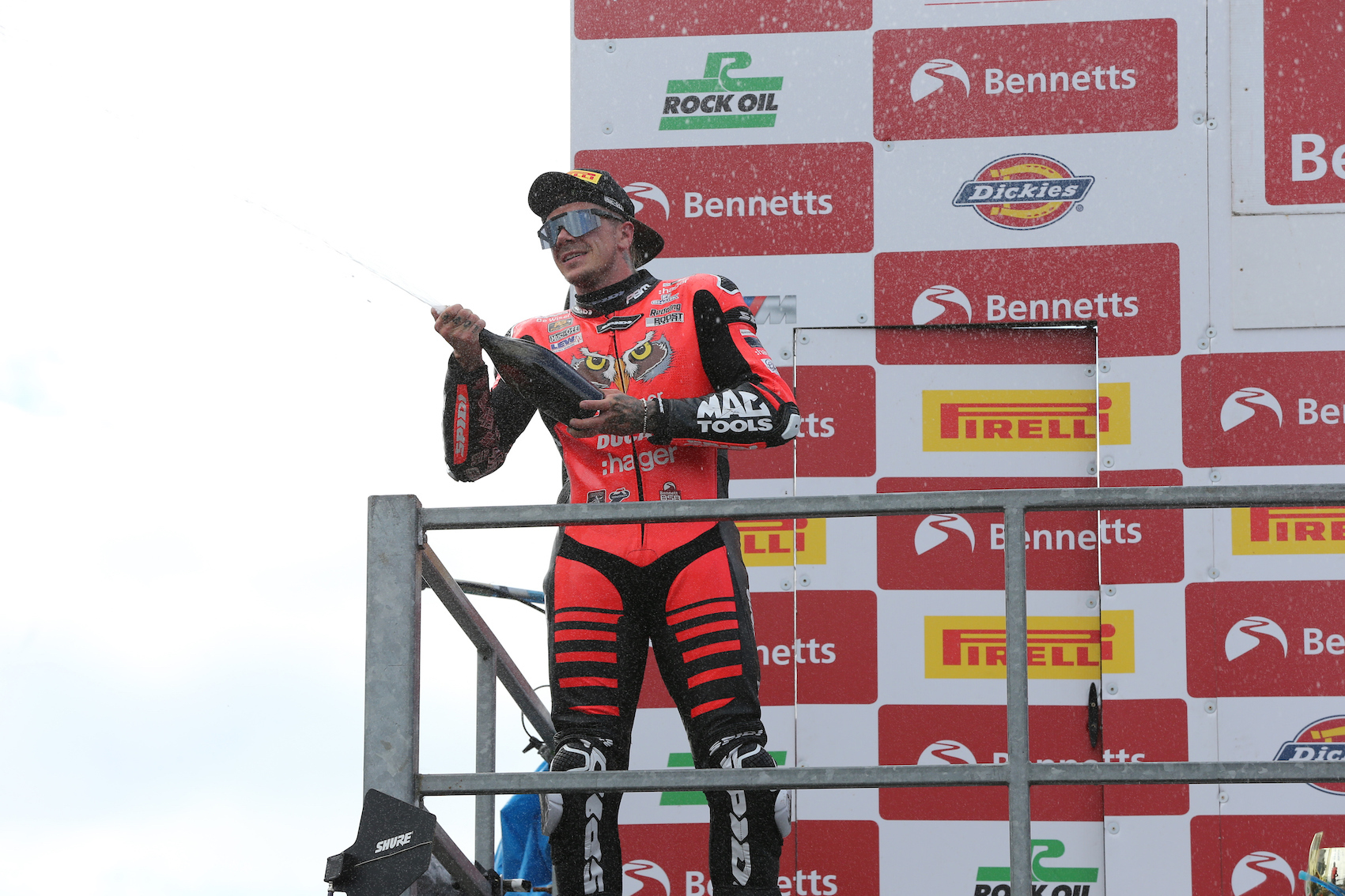 Scott Redding celebrating race win at BSB