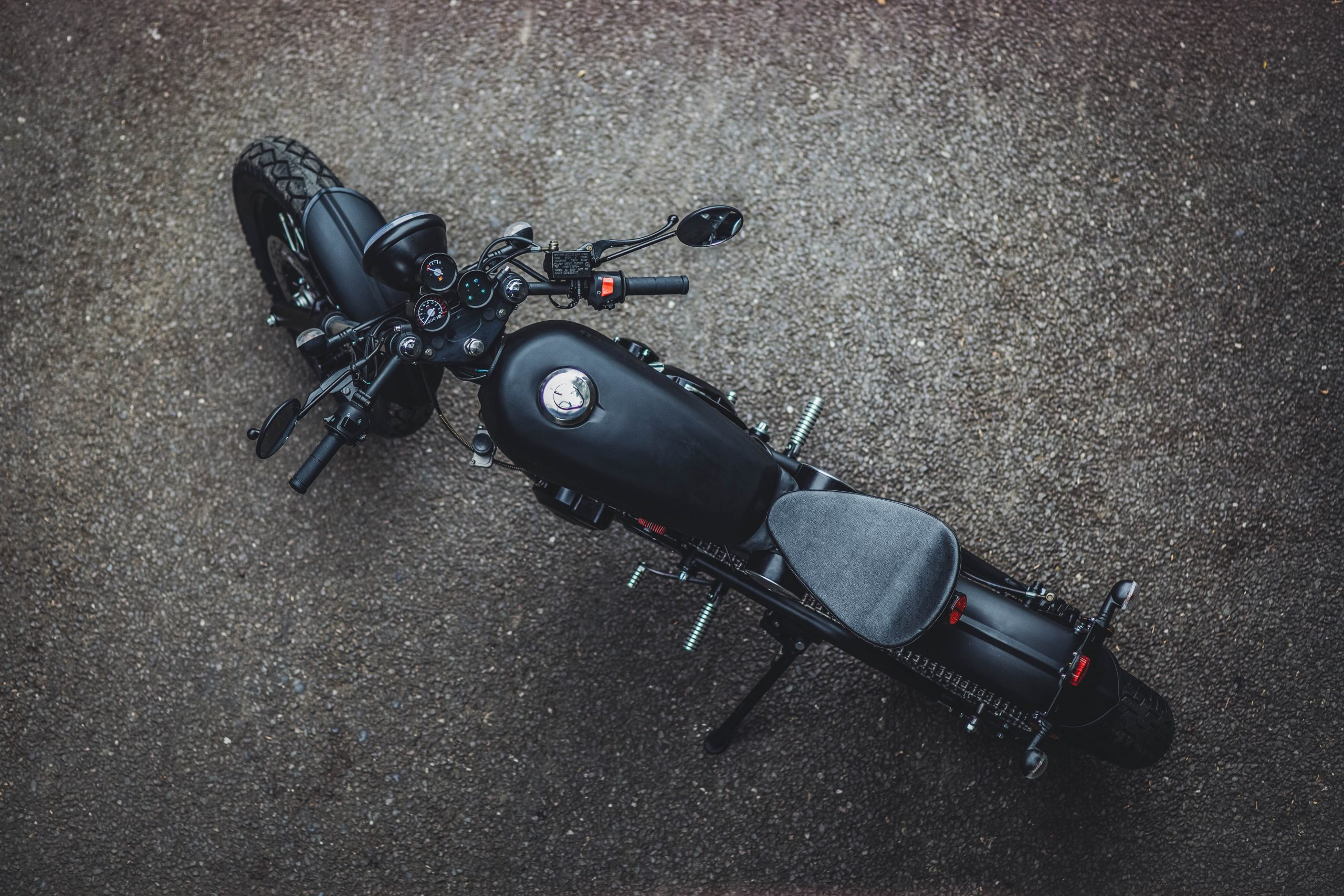 Birdseye view of motorbike