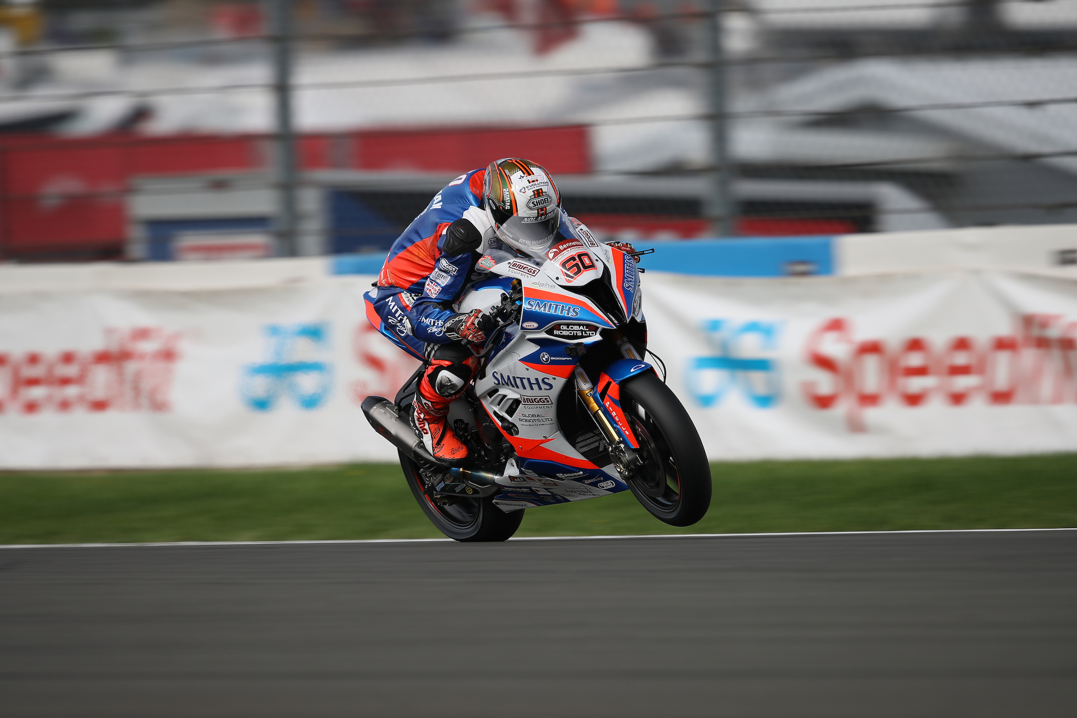 Peter Hickman racing at Donington Park