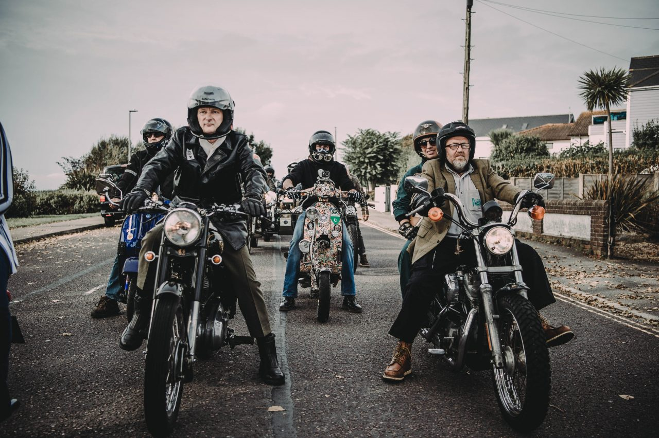Group of bikers