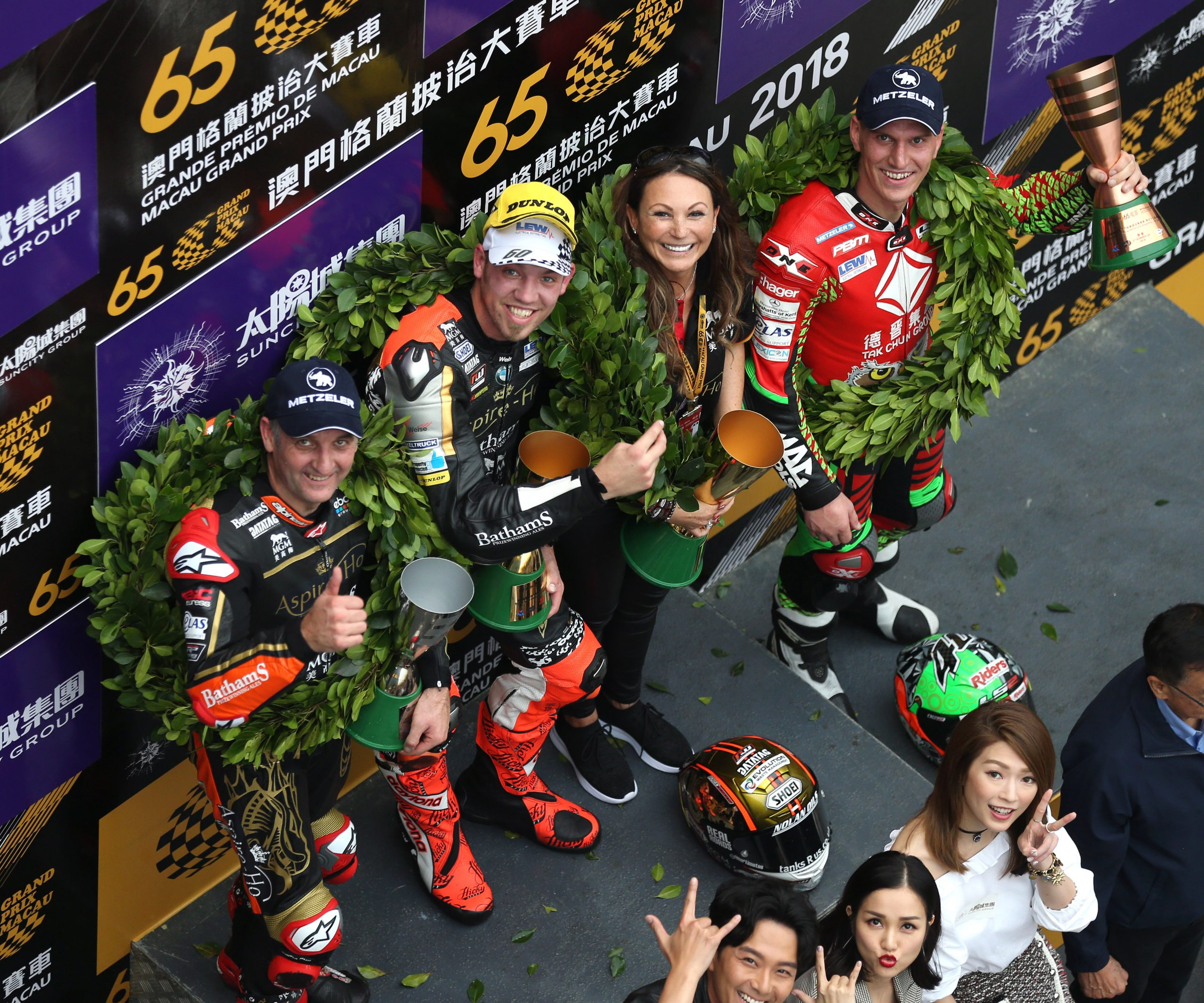 2018 Macau GP Podium winners