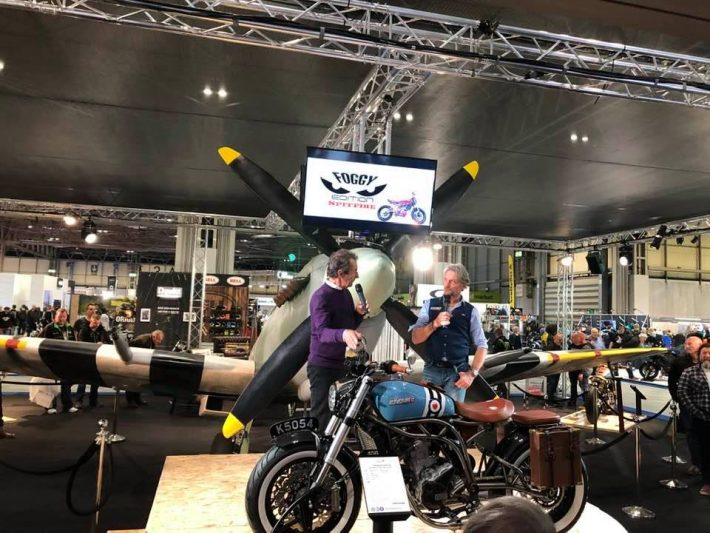 Carl Fogarty and Steve Parrish at Motorcycle Live 2019
