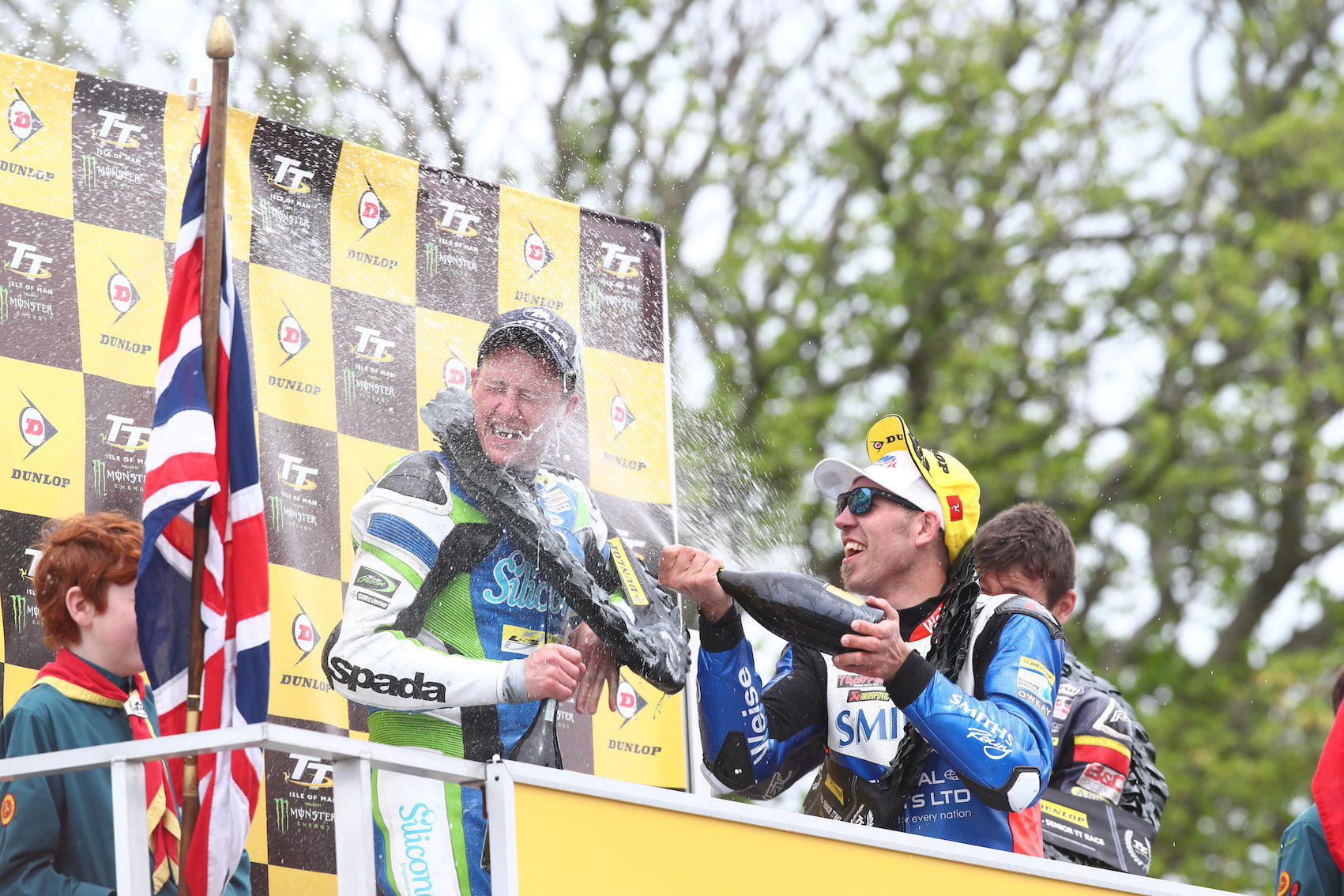 Senior TT podium (DR)