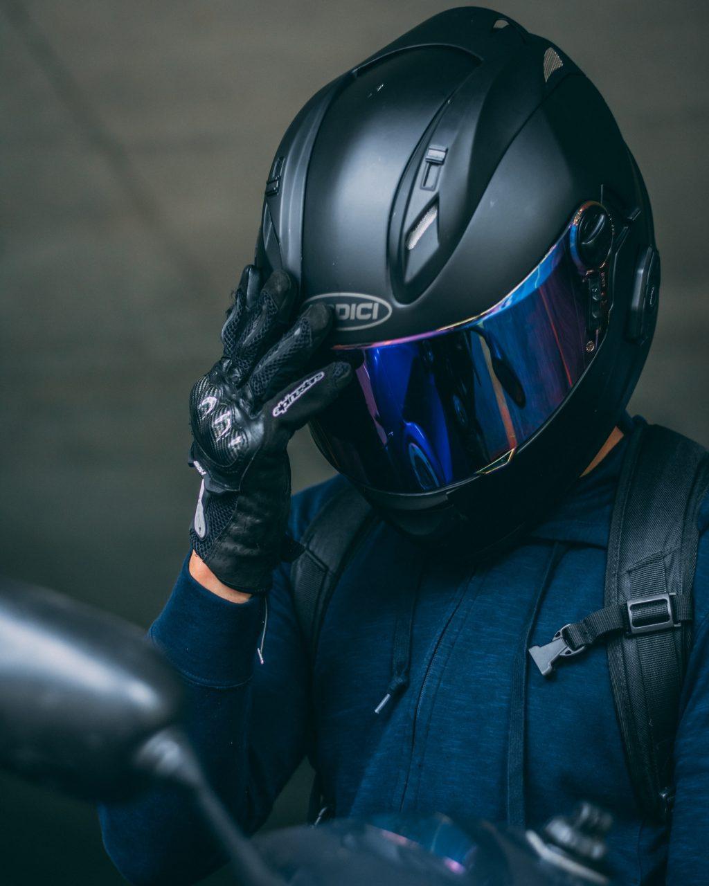 tinted motorcycle visor