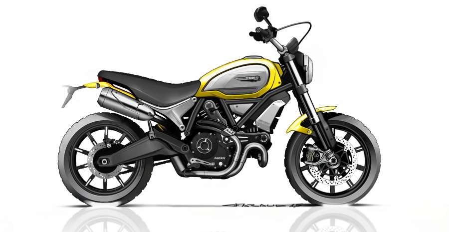 08 DUCATI SCRAMBLER 1100 SKETCH_UC64902_High