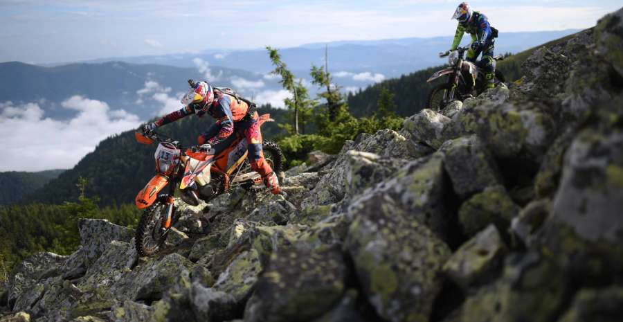 Challenging terrains for competitors credit official Red Bull Romaniacs Facebook Page