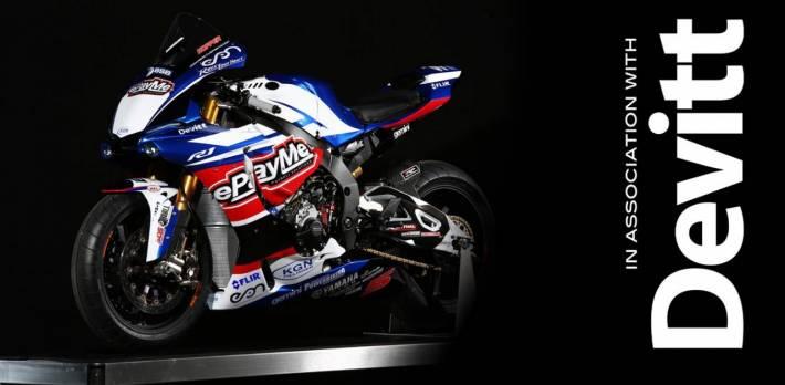 Devitt sponsor Tommy Hills' ePay Yamaha BSB team