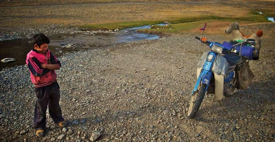 Motorbike at Mongol Rally